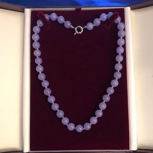 10mm Amethyst bead necklace. 18 inch length